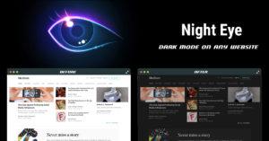 Dark mode on Medium with Night Eye