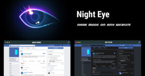 Night Eye - browser extension - Dark mode on every site
