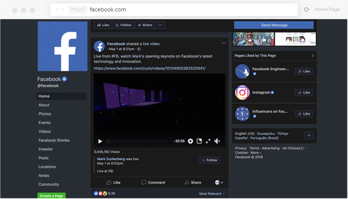 How To Enable Night Mode For Facebook Night Eye When it came to adding a dark mode option to its ios app, facebook was late to the game. how to enable night mode for facebook