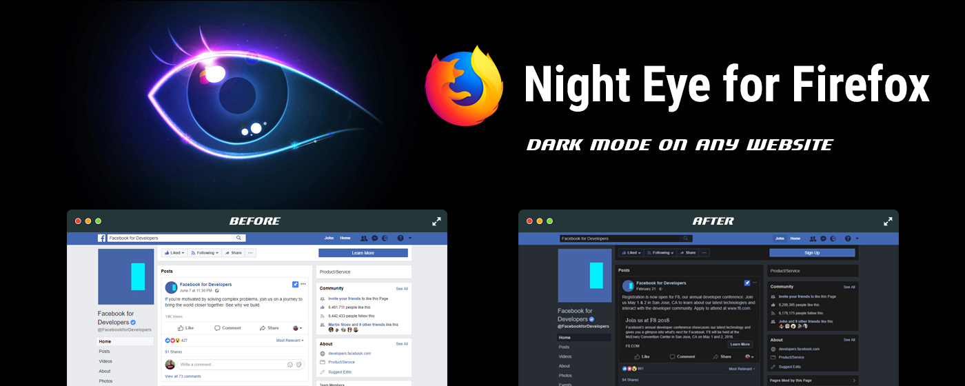 Firefox dark mode | Night Eye