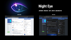 Night Eye is a browser extension that enables dark mode on any website
