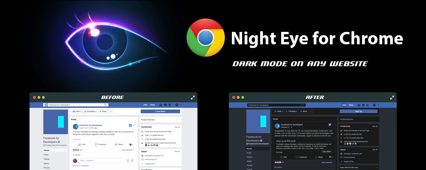 Chrome dark mode - how to get the best night mode available | Night Eye