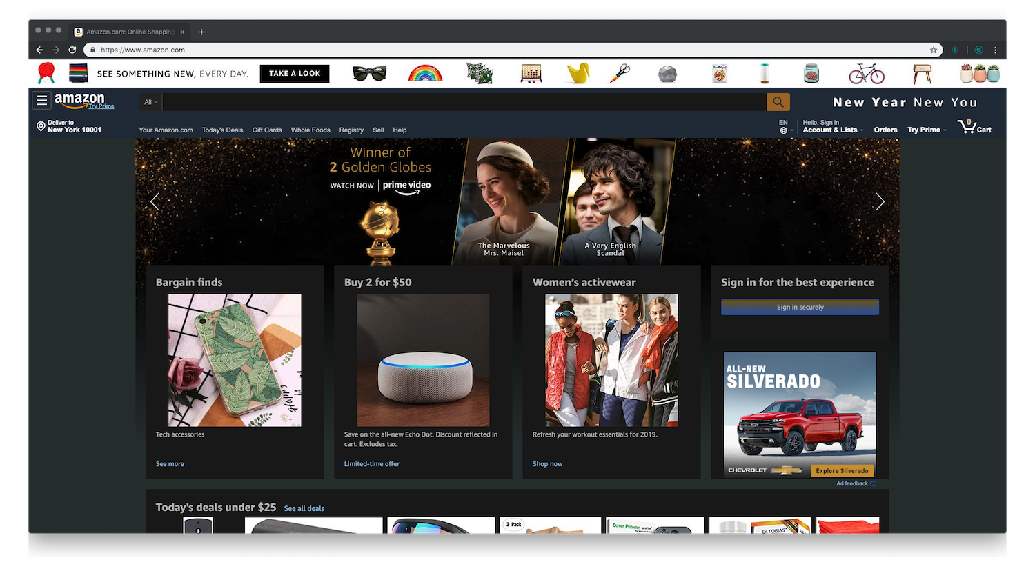 Amazon-home-page-dark-mode