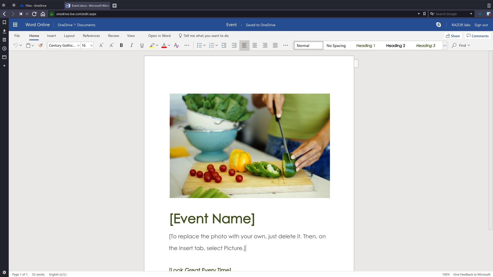Event.docx - Microsoft Word Online - Vivaldi 2019-01-14 12-58-06