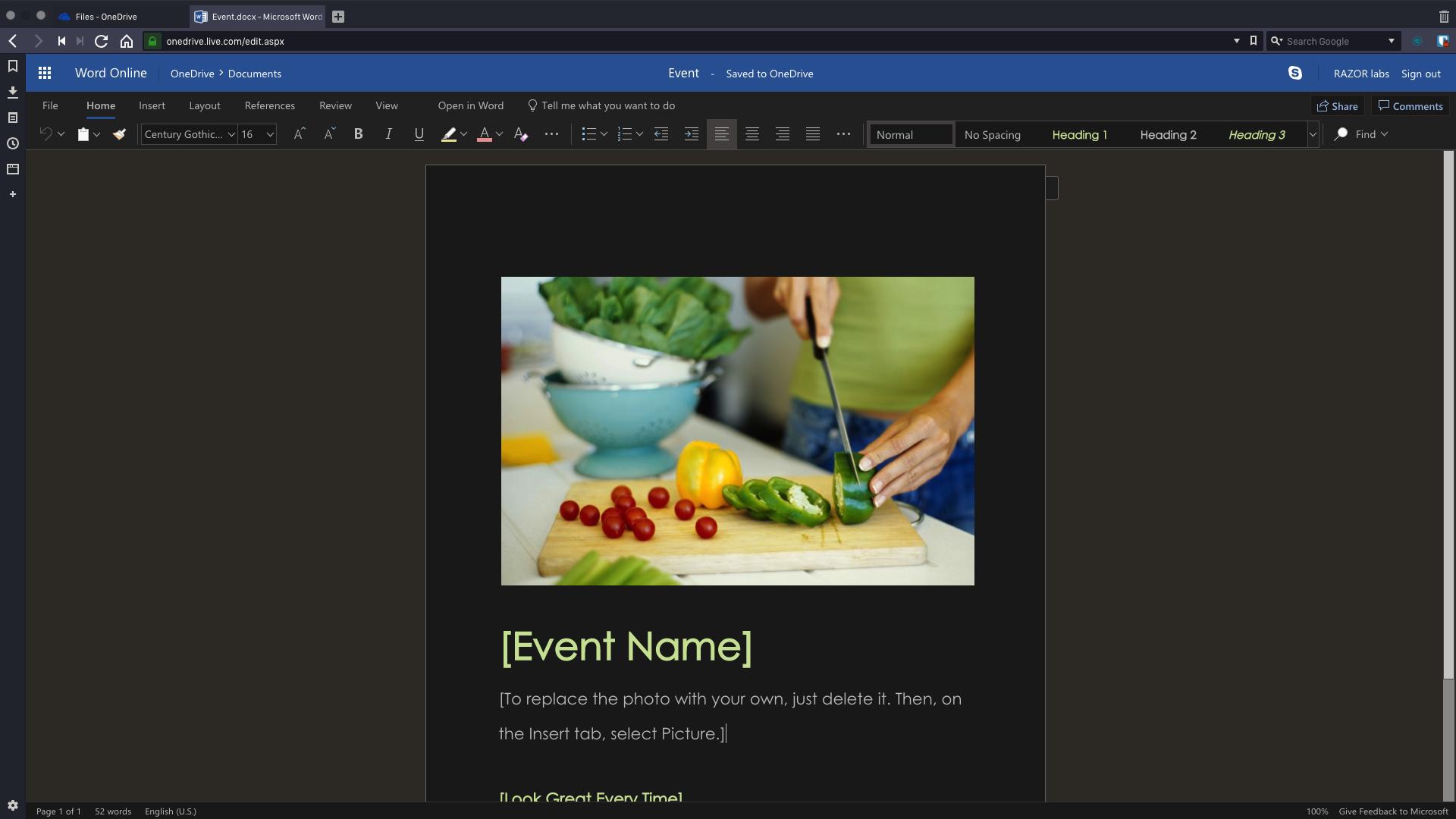 Event.docx - Microsoft Word Online - Vivaldi 2019-01-14 12-58-26