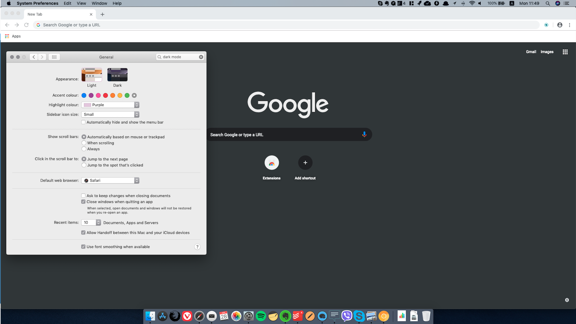 Google-Chrome-Canary-macOS-Mojave-modes