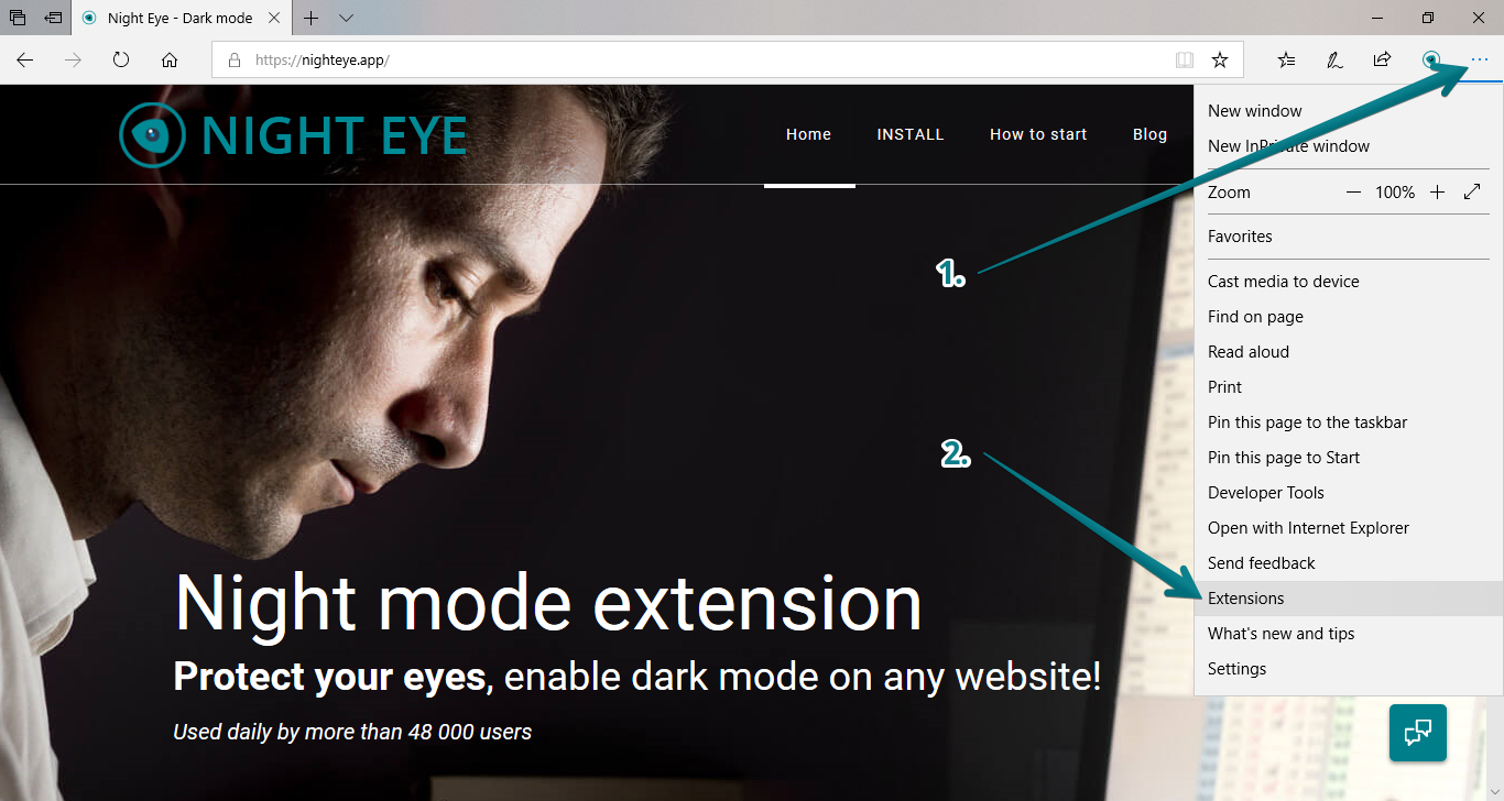 Edge-enable-extensions-inprivate-mode-1
