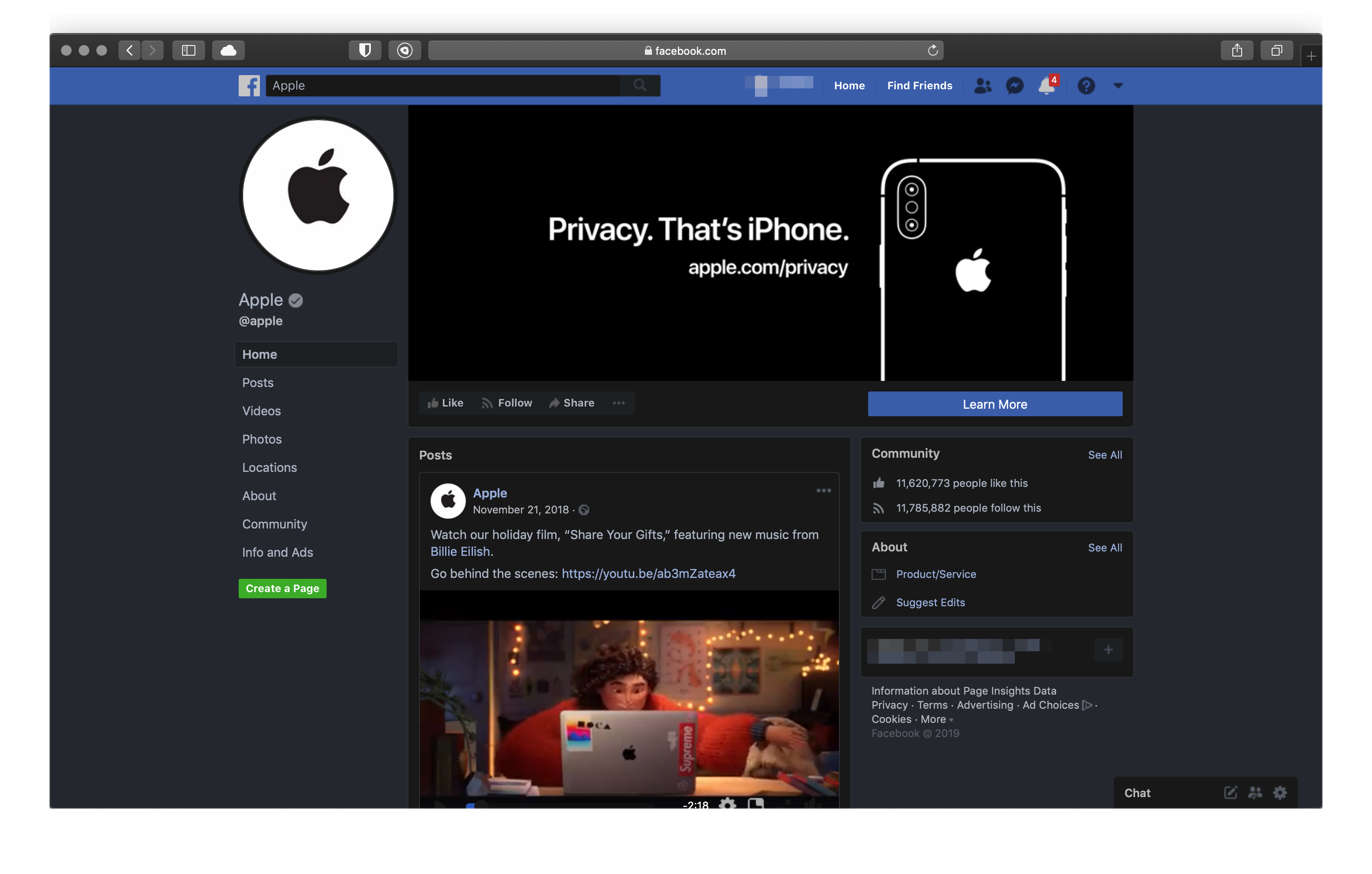 Facebook-Night-Eye-safari-dark-mode