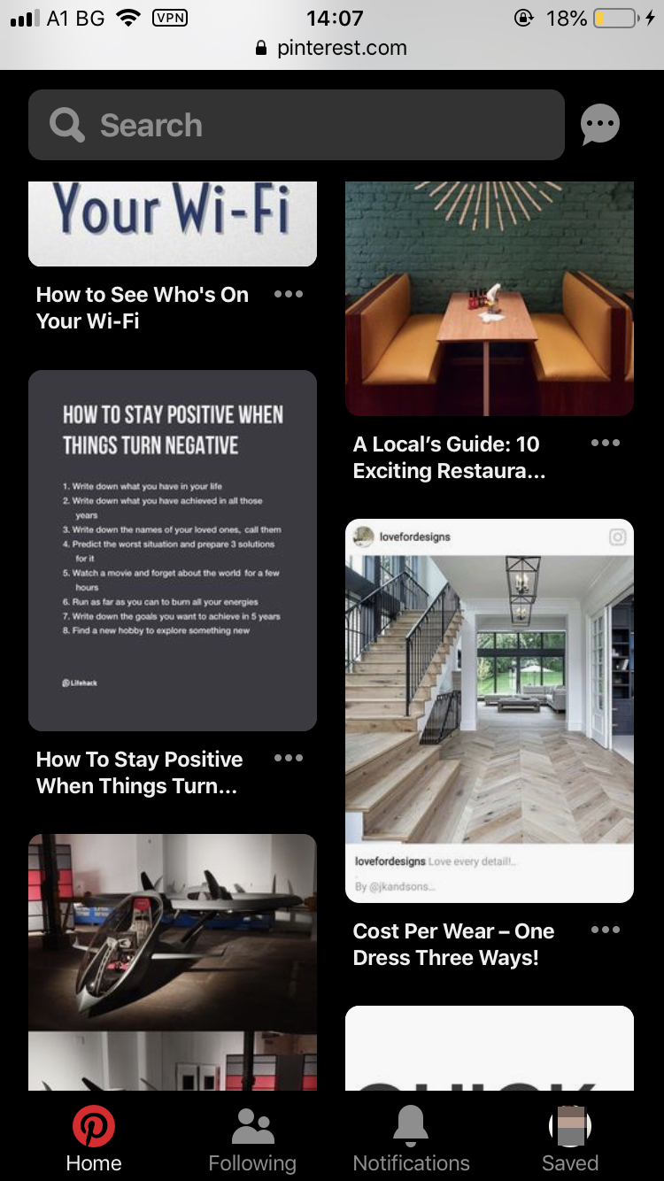 Enable-Pinterest-Dark-Mode-Mobile-Website-5