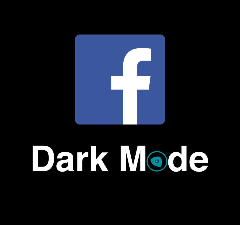 Facebook Logo Dark Mode by Night Eye