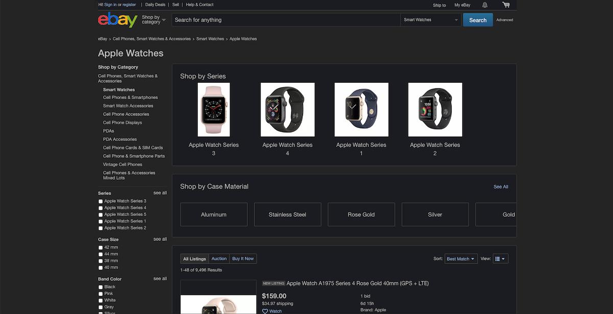 Shop With Dark Mode On Ebay Night Eye
