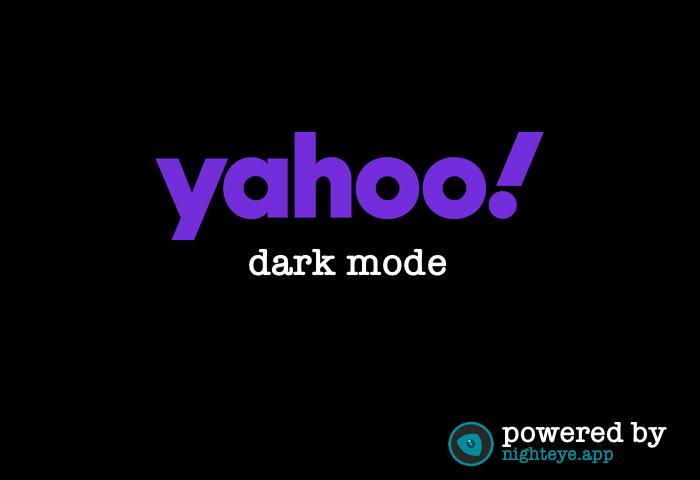 yahoo dark mode