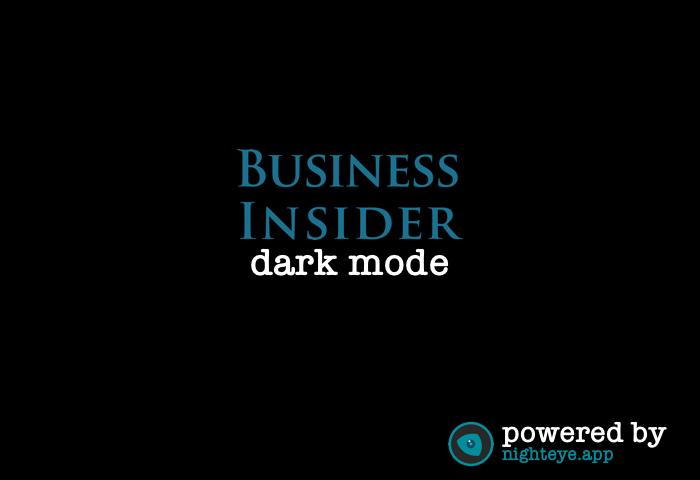 business insider dark mode