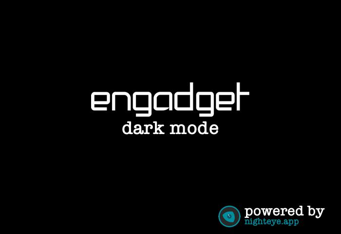 engadget dark mode