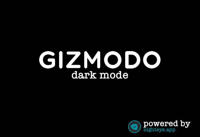 gizmodo dark mode
