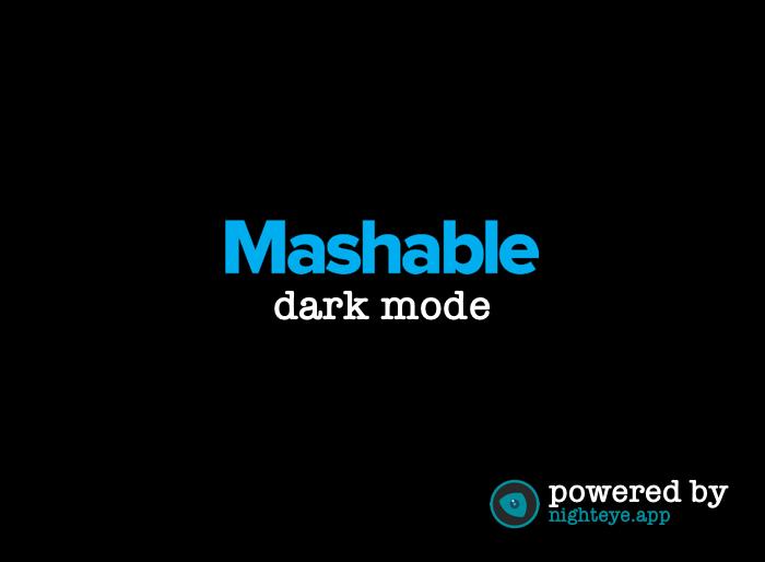 mashable dark mode