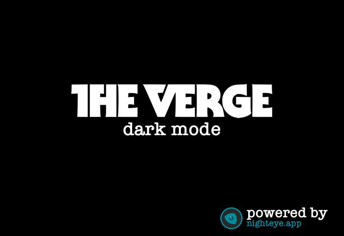 the verge dark mode