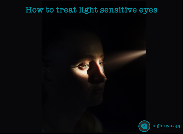 how to treat light sensitive eyes