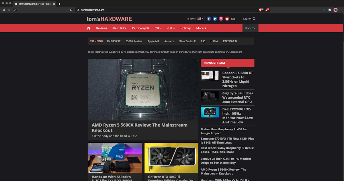 tom's hardware dark mode