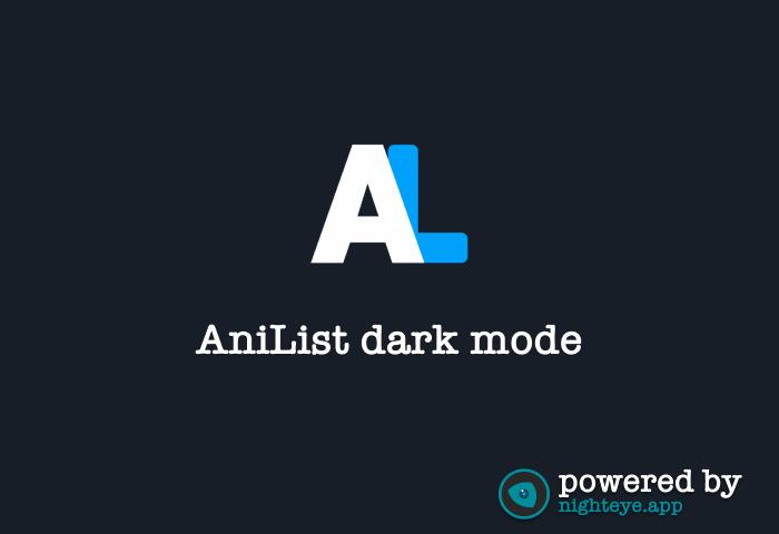 anilist dark mode