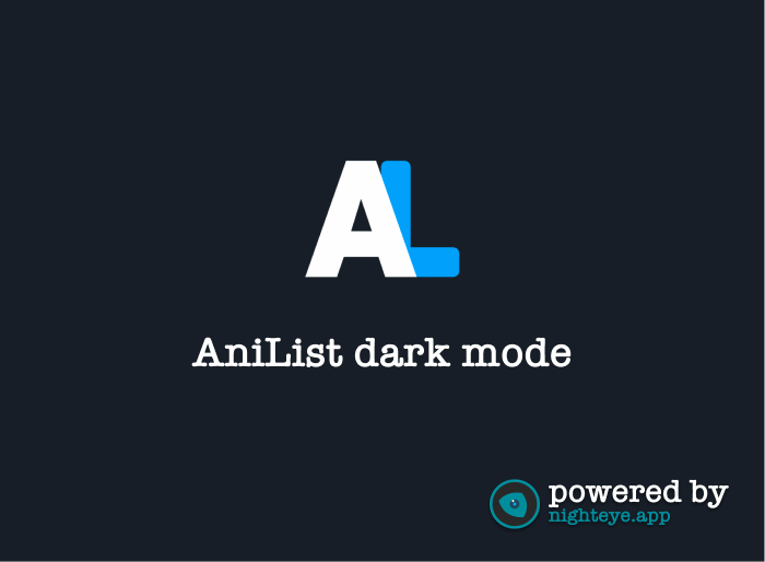anilist dark mode