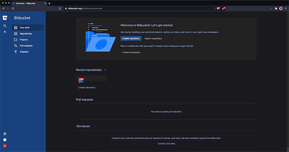 bitbucket dark mode
