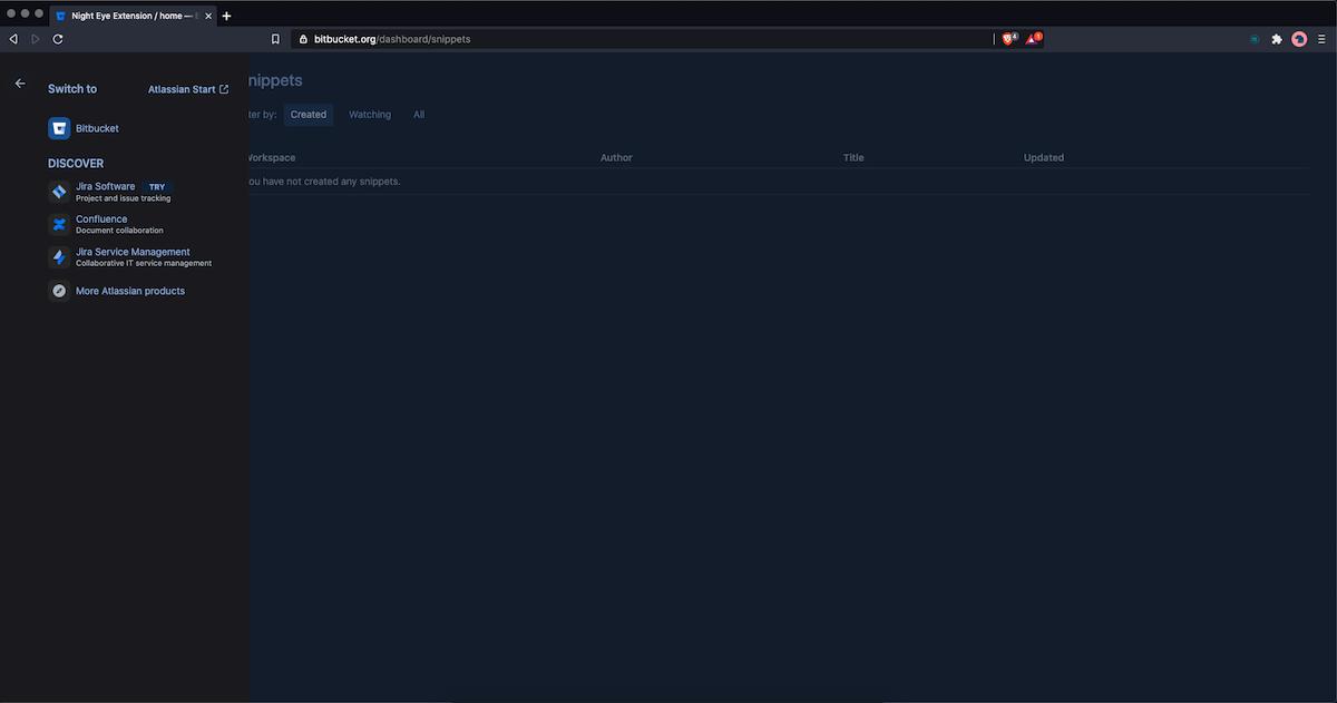 bitbucket dark mode installation