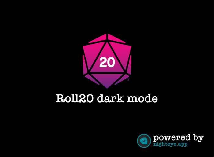 roll20 dark mode