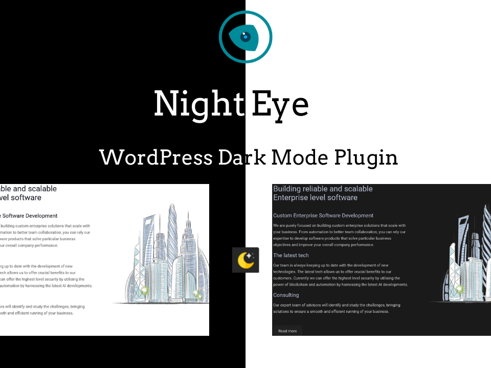 NightEye WP dark mode plugin